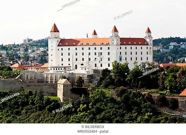 Bratislava in the Slovak Republic of the European Union.Castle Hill and Castle