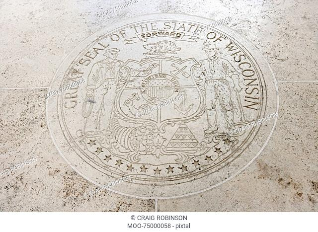 Great Seal of the State of Wisconsin in Fort Bonifacio, Manila, Philippines