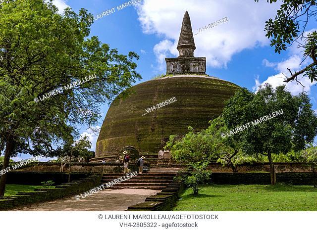 Golden Pinnacle Stupa or Rankot Vihara, built by King Nissanka Malla (1187-1196), the Ancient City of Polonnaruwa, North Central Province, Sri Lanka, Asia