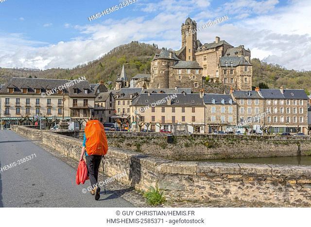 France, Aveyron, Estaing, labelled Les Plus Beaux Villages de France (The most beautiful villages of France), a stop on el Camino de Santiago