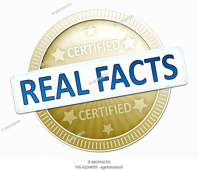 An illustration of a certified real facts sign - 06/06/2010