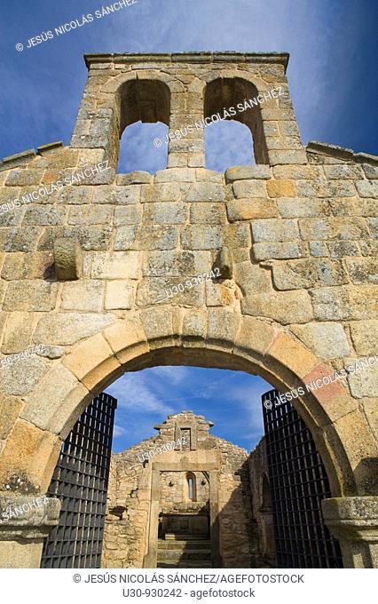 Ruins of the castle church in the Historic Village of Castelo Mendo, in Beira Alta of Guarda District  Portugal