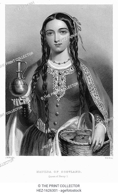 Matilda of Scotland, Queen of Henry I, (c1850s). Matilda (1080-1118), daughter of Malcolm III of Scotland, married Henry I of England in 1100