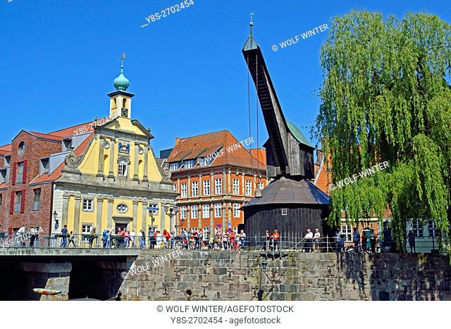 At the old town of Lueneburg, Lower Saxony, northern Germany