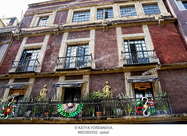Classic Building in Centro Historico Mexico City, Mexico
