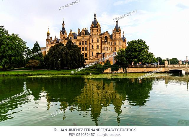 Schwerin Castle, one of the most important works of romantic Historicism in Europe