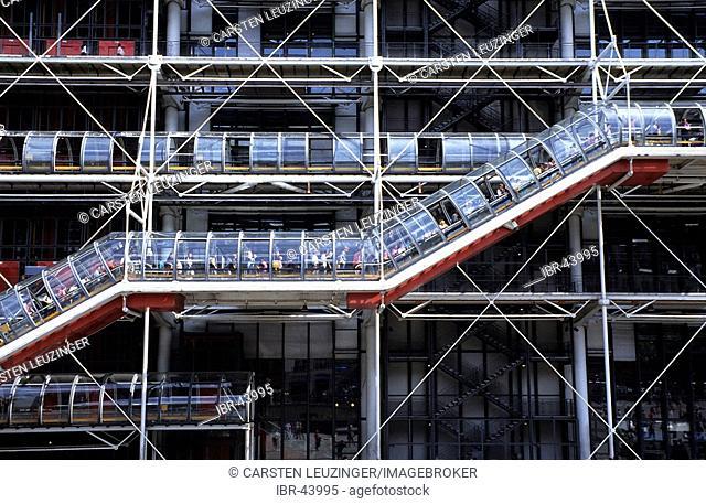 Front of Centre Pompidou, Paris, France