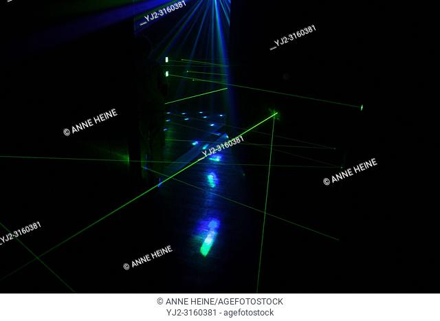 Laser Lights. Amusement Park Fort Fun, Sauerland, Bestwig, Germany