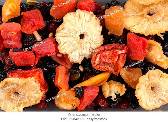 Dried fruits background