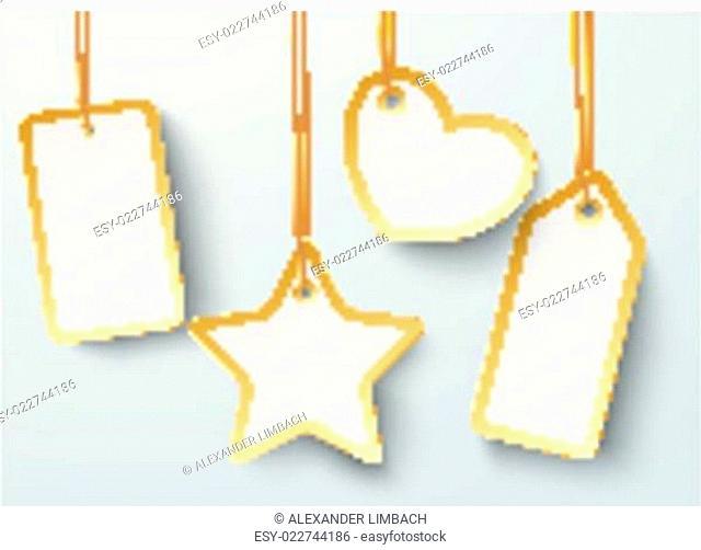 Golden Price Sticker Heart Star 2 PiAd