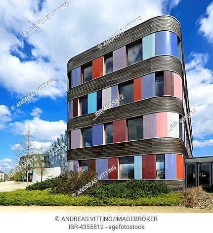 Federal Environment Agency, built in 2005, sauerbruch & hutton architekten, Dessau, Saxony-Anhalt, Germany