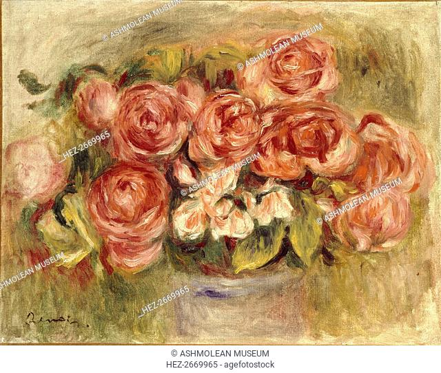 Still Life of Roses in a Vase, 1880s and 1890s. Artist: Pierre-Auguste Renoir