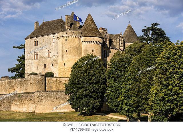 The castle of Fenelon, Sainte Mondane, Dordogne, Perigord, Aquitaine, France