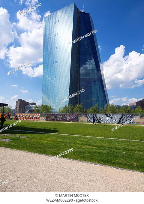 Germany, Hesse, Frankfurt, new building of European Central Bank