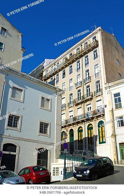residential housing, Alfama, Lisbon, Portugal