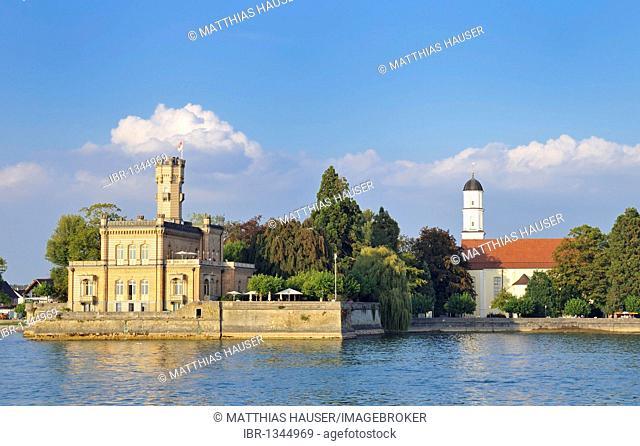 Schloss Montfort castle, Langenargen on Lake Constance, Baden-Wuerttemberg, Germany, Europe