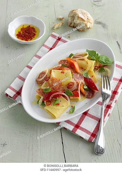 Insalata con Bombardoni alla Siciliana (Italian pasta salad)
