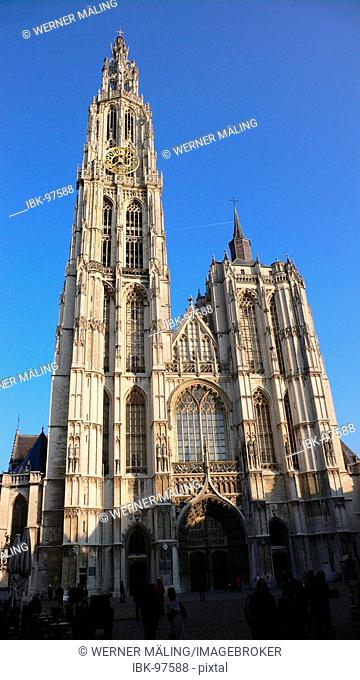 Belgium, Antwerp, flemish, gothic cathedral, Our Lady