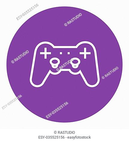 Joystick thick line icon with pointed corners and edges for web, mobile and infographics. Vector isolated icon