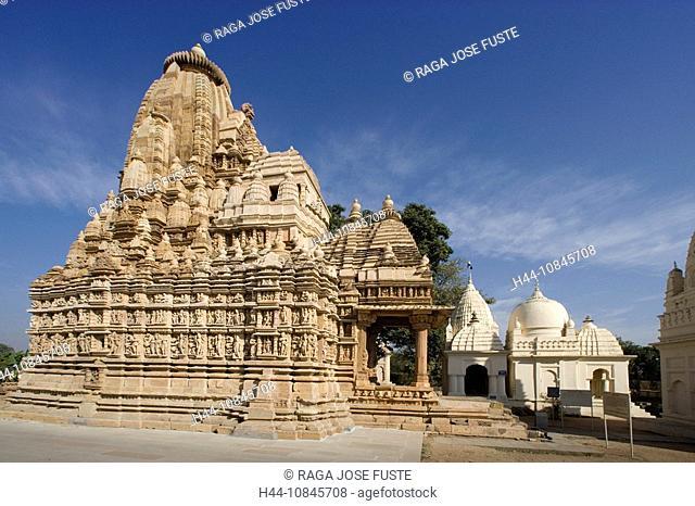 India, Khajuraho city, Madhya Pradesh, UNESCO, World heritage site, Parshvanath Temple, Asia, travel, January 2008, cu