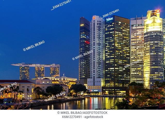 Skyscrapers. Singapore, Asia