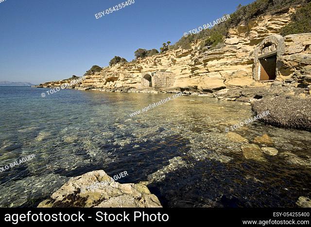 Enbarcaderos erosionados, Ca los Camps. Arta. Mallorca. Spain