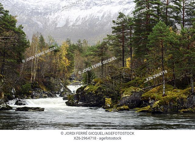 Gudbrandsjuvet in Valldalen valley in Møre og Romsdal county, Norway, Europe