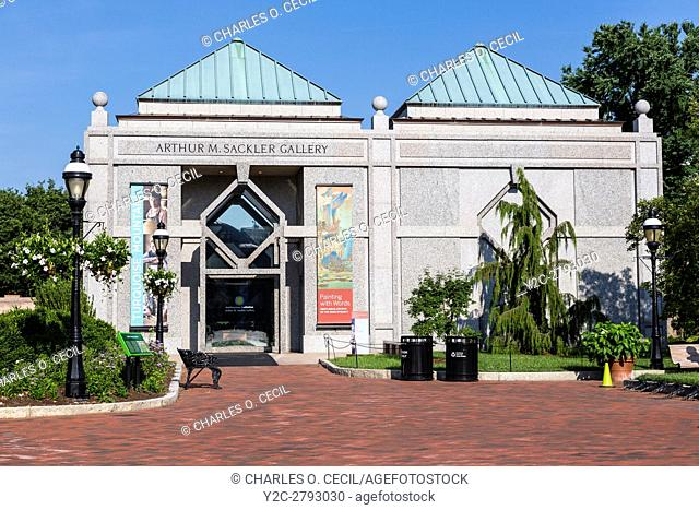 Entrance to the Arthur M. Sackler Gallery, Smithsonian Institution, Washington, D. C