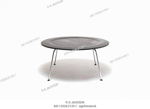 Ebonised Black CTM (coffee table metal) Table. Designer: Charles and Ray Eames