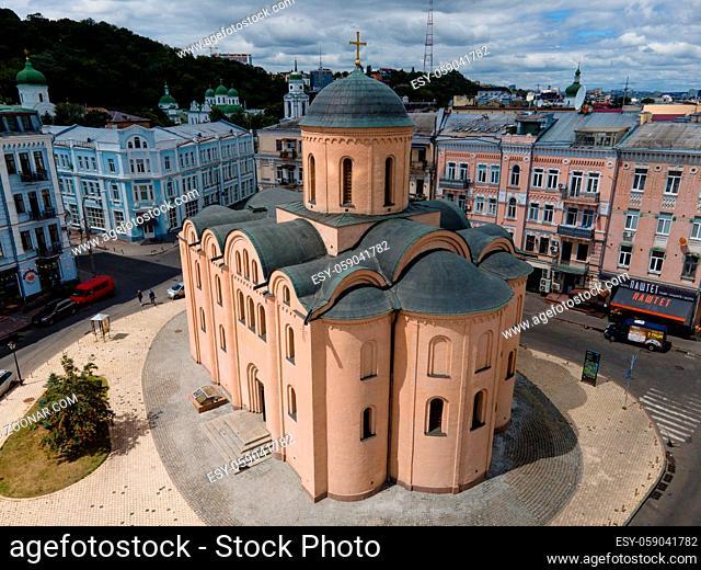 Church of the Tithes. Aerial KyivUkraine