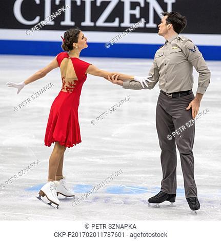 Mistrovstvi Evropy v krasobrusleni: tanecni pary - volne tance, 28. ledna v Ostrave. Tina GARABEDIAN, Simon PROULX-SENECAL z Armenie