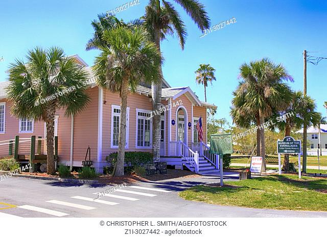 The Museum of the Everglades building in Everglades City, Florida USA