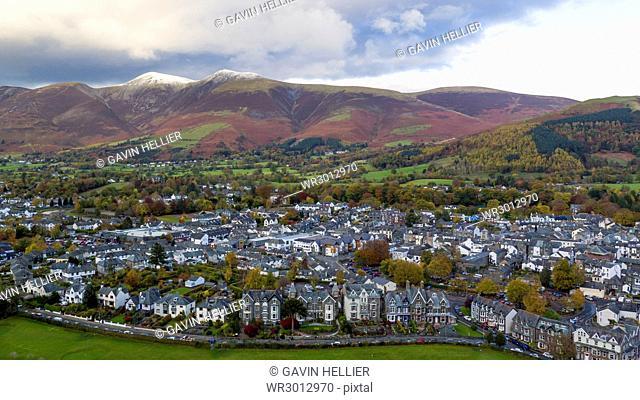 Keswick and Skiddaw beyond, Lake District National Park, UNESCO World Heritage Site, Cumbria, England, United Kingdom, Europe