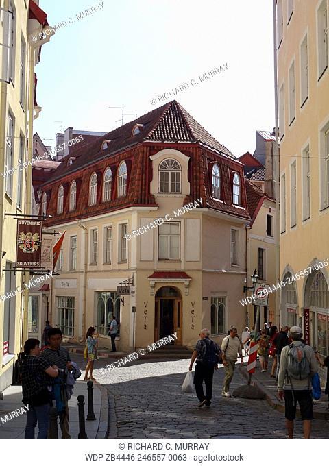 Tallinn Old Town Medieval Building-Tallinn, Estonia