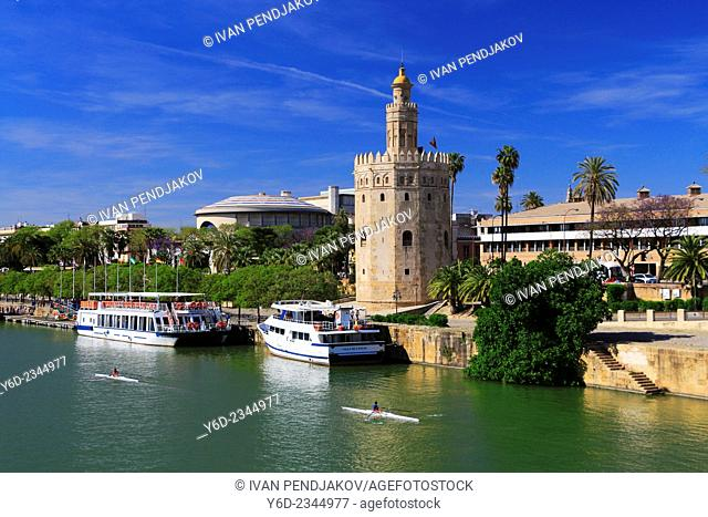 Torre del Oro, Seville, Andalusia, Spain