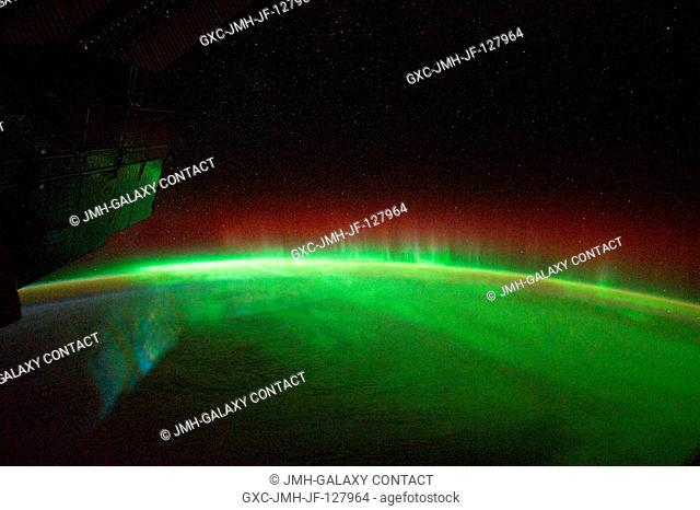This is one of a series of night time images photographed by one of the Expedition 29 crew members from the International Space Station