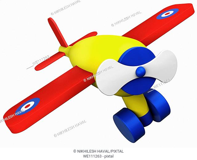 Toy wooden plane aeroplane airplane