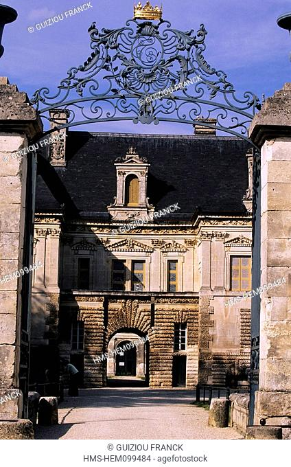 France, Yonne, Castle of Tanlay, Entry