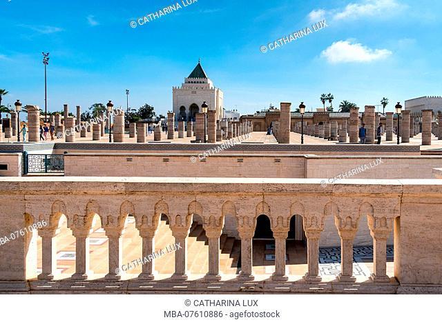 Morocco, Rabat, Mausoleum Mohamed V