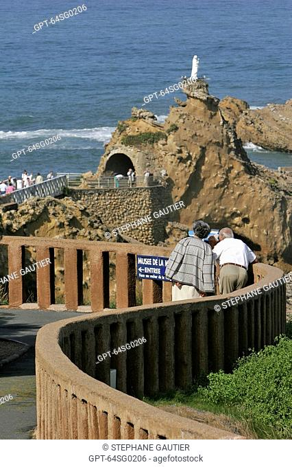 THE ROCK OF THE VIRGIN, BASQUE COUNTRY, BASQUE COAST, BIARRITZ, PYRENEES ATLANTIQUES, 64, FRANCE