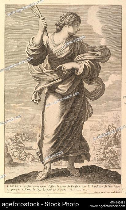 Clélie. Series/Portfolio: Galerie des Femmes fortes; Artist: Gilles Rousselet (French, Paris 1614-1686 Paris); Artist: Abraham Bosse (French