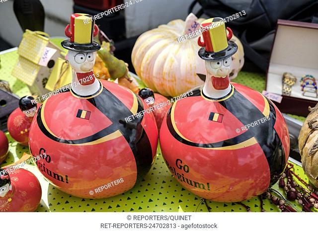 Illustration d'objets representatif du fait d'etre belge. Famille royale; mascote; couleurs; Belgitude; Misceallenous objects representative of the belgians