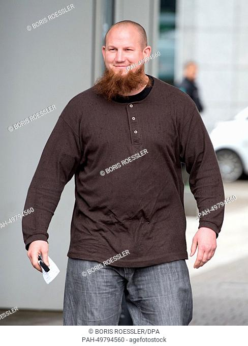 Radical salafist preacher Pierre Vogel is seen during a rally in Offenbach/Main, Germany, 28 Juen 2014. The police was in place to prevent a clash with...