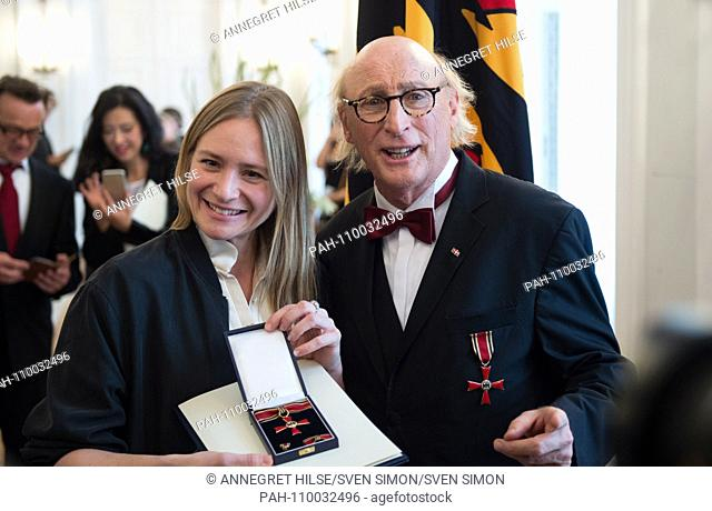 Julia JENTSCH (Zuerich / Switzerland, actress) and Otto WAALKES (Hamburg, comedian) Honoring and awarding the Order of Merit of the Federal Republic of Germany...