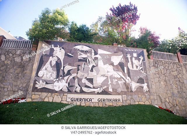 Replica made ceramics of Pablo Picasso's painting Guernica, Gernika-Lumo, Guipuzcoa, Basque Country, Spain, Europe