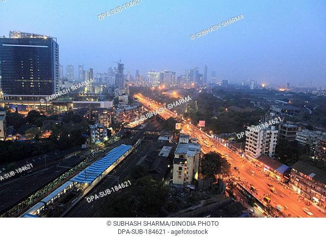 aerial View of highrise building at Mumbai India