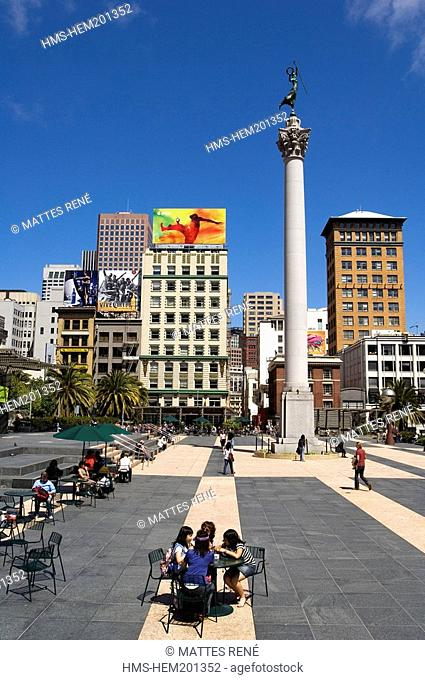 United States, California, San Francisco, downtown, Union Square