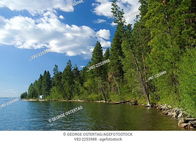 Flathead Lake, Woods Bay Fishing Access Site, Montana