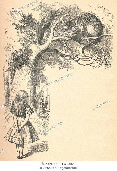 'Alice and the Cheshire Cat', 1889. Artist: John Tenniel