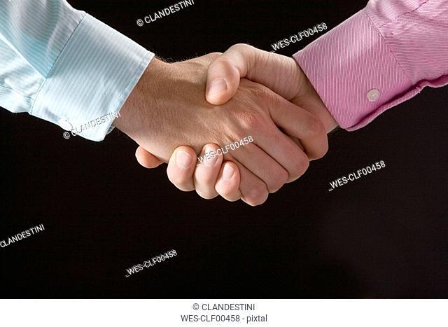 Shake hands, close-up